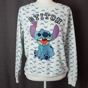 Disney Stitch Long Sleeve Sweatshirt Medium